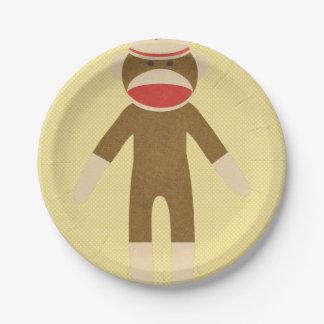 黄色いソックス猿 ペーパープレート