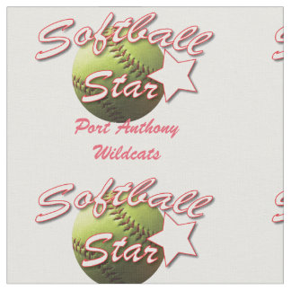 黄色いソフトボールの星のチーム名前 ファブリック
