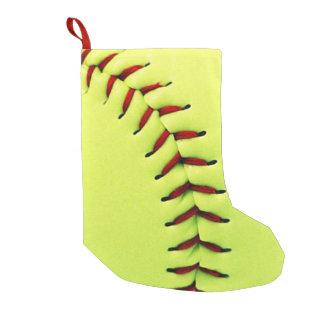 黄色いソフトボールの球 スモールクリスマスストッキング