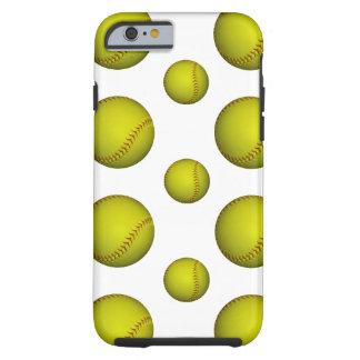 黄色いソフトボール/野球パターン iPhone 6 タフケース
