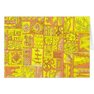 黄色いタイル カード