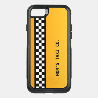 """黄色いタクシーのストライプ""""お母さんのタクシーCo. """" オッターボックスコミューターiPhone 8/7ケース"""