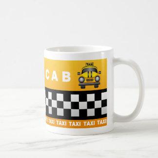 黄色いタクシーのマグ コーヒーマグカップ