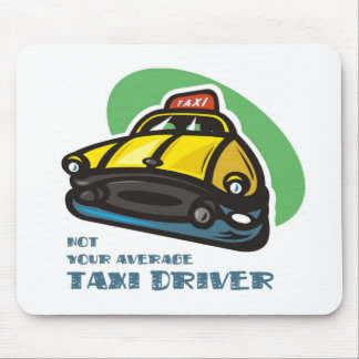 黄色いタクシーの漫画: ないあなたの平均タクシー運転手 マウスパッド