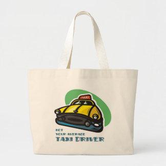 黄色いタクシーの漫画: ないあなたの平均タクシー運転手 ラージトートバッグ