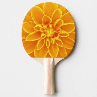黄色いダリアの花 卓球ラケット