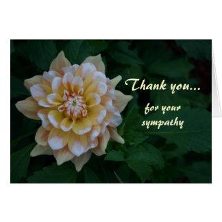 黄色いダリアはあなたの悔やみや弔慰カードのために感謝していしています カード
