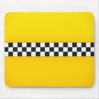 黄色いチェッカーボードパターン マウスパッド