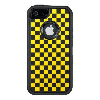 黄色いチェッカーボード オッターボックスディフェンダーiPhoneケース