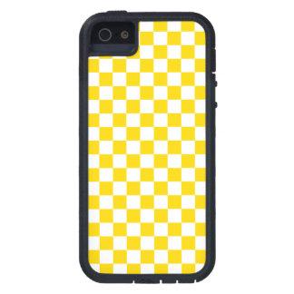 黄色いチェッカーボード iPhone SE/5/5s ケース