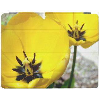 黄色いチューリップのiPadカバー iPadスマートカバー