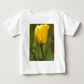 黄色いチューリップ ベビーTシャツ