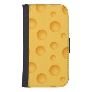 黄色いチーズパターン ウォレットケース