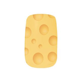 黄色いチーズパターン ネイルシール