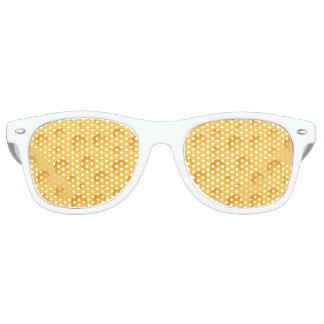 黄色いチーズパターン レトロサングラス