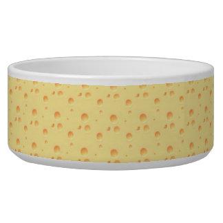 黄色いチーズ一見のペットボウル 犬のえさ皿