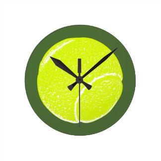黄色いテニス・ボール ラウンド壁時計