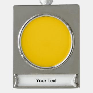黄色いテンプレート シルバープレートバナーオーナメント