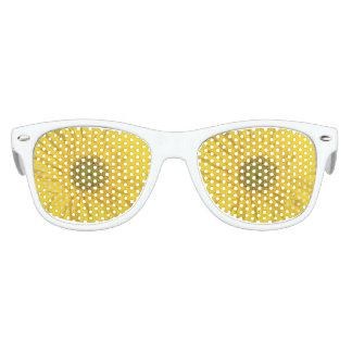 黄色いデイジーのパーティの陰 キッズサングラス
