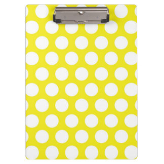 黄色いデザインの大きい点 クリップボード