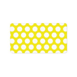 黄色いデザインの大きい点 ラベル