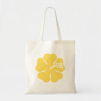 黄色いハイビスカスの花15 トートバッグ