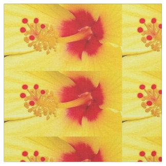 黄色いハイビスカス ファブリック