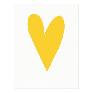 黄色いハート Chinは キンボウゲをやる気を起こさせるな持ち上げます ポストカード