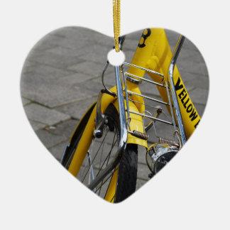 黄色いバイクアムステルダム セラミックオーナメント