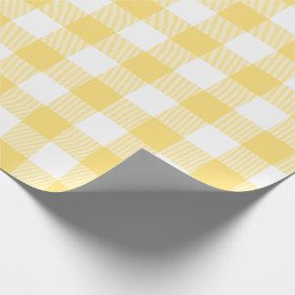 黄色いバッファローの点検パターン ラッピングペーパー