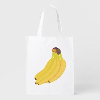 黄色いバナナのカスタムの買い物袋の束 エコバッグ