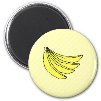 黄色いバナナの束 マグネット