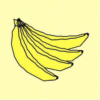 黄色いバナナの束 写真彫刻マグネット