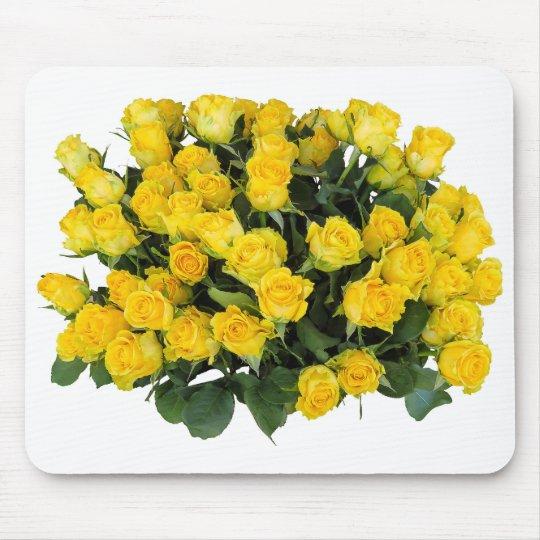 黄色いバラ マウスパッド