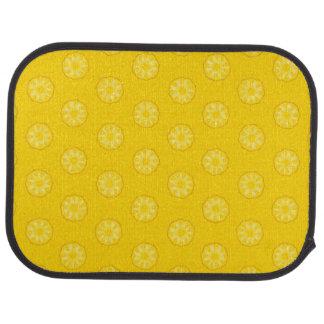 黄色いパイナップルはパターンをスライスします カーマット