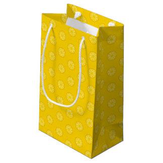 黄色いパイナップルはパターンをスライスします スモールペーパーバッグ