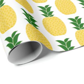 黄色いパイナップル ラッピングペーパー