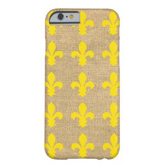 黄色いパリのMoods Fleur de Lys Barely There iPhone 6 ケース