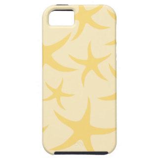 黄色いヒトデパターン iPhone SE/5/5s ケース