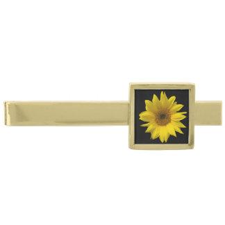 黄色いヒマワリの写真芸術のデザイン 金色 ネクタイピン