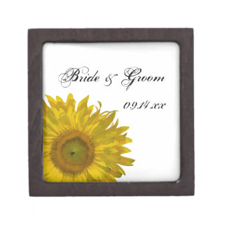 黄色いヒマワリの結婚式 ギフトボックス
