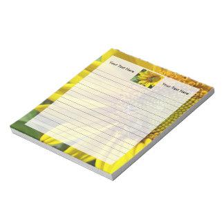 黄色いヒマワリの蜂蜜の蜂 ノートパッド