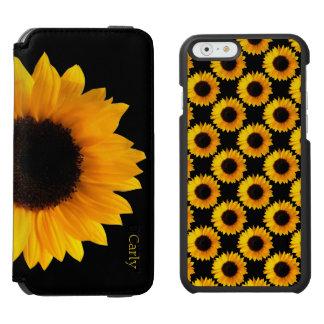 黄色いヒマワリのiPhone 6のウォレットケース Incipio Watson™ iPhone 6 ウォレットケース