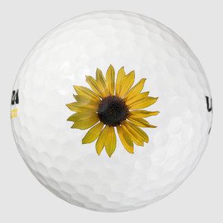 黄色いヒマワリ ゴルフボール