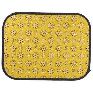 黄色いピザパターン カーマット