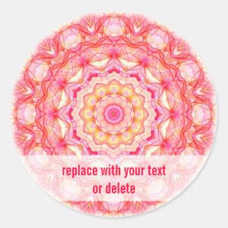 黄色いピンクのロマンス ラウンドシール