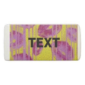 黄色いピンクの抽象芸術の唇 消しゴム