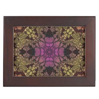 黄色いピンクの紫色の抽象芸術 ジュエリーボックス