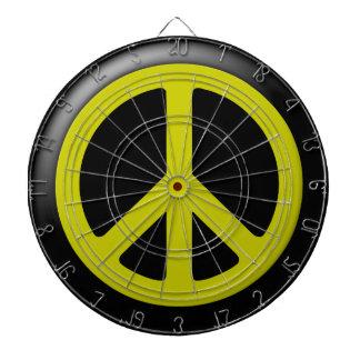 黄色いピースマークDartbaord ダーツボード