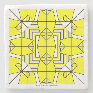 黄色いフクロウ ストーンコースター